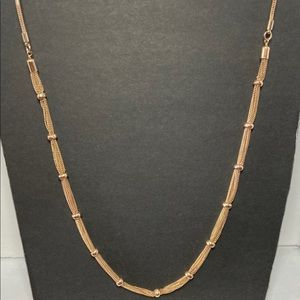 Vintage Long Gold Chain Necklace